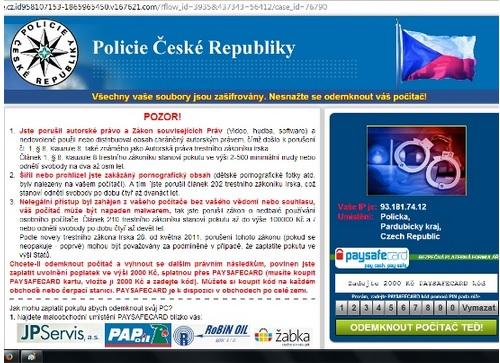 policie pocitac